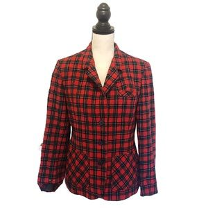 Vintage Pendleton Red/Black Plaid Wool Jacket